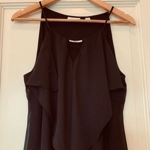 NY&Co sleeveless black blouse